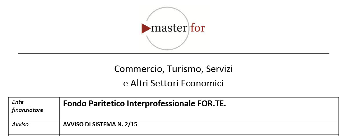 Master For FOR.TE