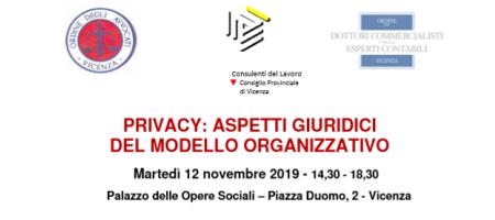 Martedì 12 Novembre 2019 Vicenza