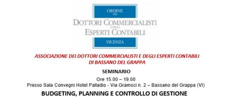 19 Settembre 2019 Budgeting, planning e controllo di gestione